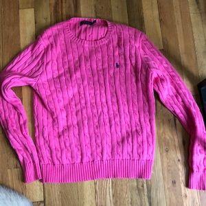 Pink ralph lauren sweater LG